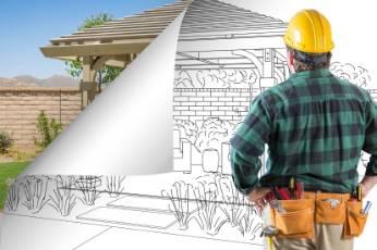 man working on Newcastle Carports renovation design